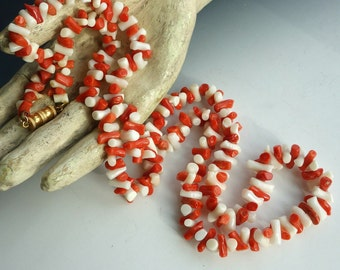 Genuine Coral Necklace Les Bernard