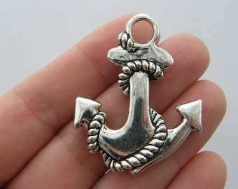 1 Anchor pendant antique silver tone SC104