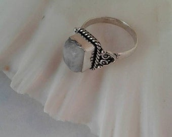 Vintage Moonstone Ring, Size 8,Estate Sale Find,Moonstone
