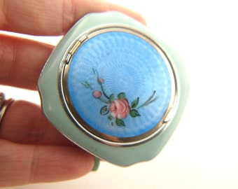 Turquoise Evans Compact - 1930's - Vintage