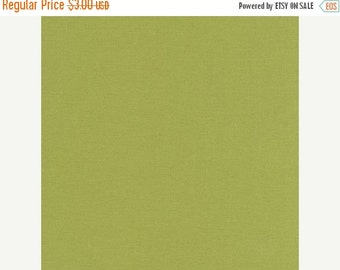 SuperBowl Sale Kona Designer solid cotton, by Robert Kaufman, OLIVE 1/2  YD