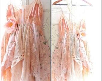 Summer sundress, boho dress, Romantic bohemian summer slip dress, Spell and gypsy fortune teller fae dress, Bohemian, True rebel clothing