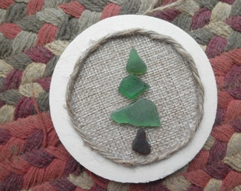 One Tree Ornament Lake Erie Beach Glass