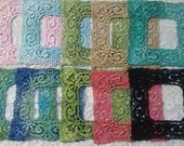 Lace Frame Shabby Chic Victorian Venise Hand Dyed for Crazy Quilt Applique