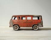 Vintage Toy Van, Red Ford Van