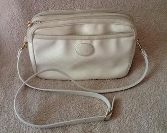 Gucci Shoulder Bag Purse White Vintage 1980's SALE