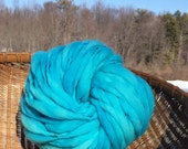 Handspun super chunky yarn, 49 yards and 3.25 ounces/92 grams spun thick and thin in merino wool
