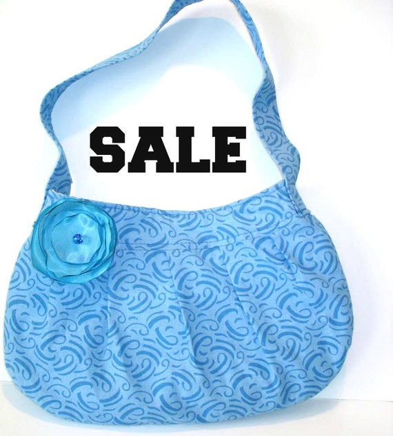 Small pleated purse, small blue bag, small pocketbook, girls purse, shoulder bag, gift for her, teen bag