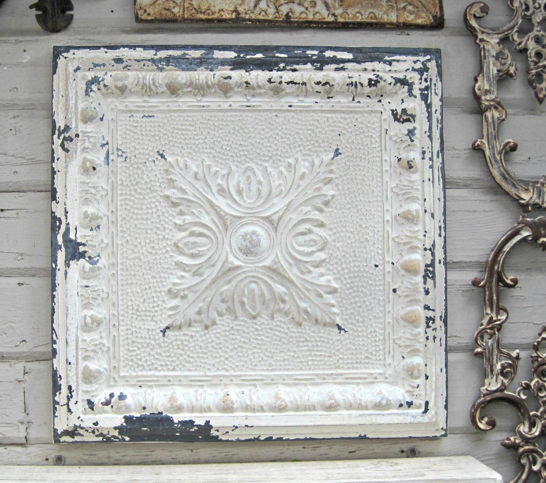 framed antique ceiling tin tile vintage metal tile rustic. Black Bedroom Furniture Sets. Home Design Ideas