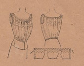 McCall 4020 / Antique Sewing Pattern / Corset Cover Lingerie Camisole / Bust 40 / Vintage Early 1900s