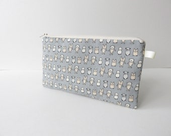 fabric zippered pencil case