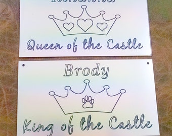 King or Queen of the Castle Crate Signs