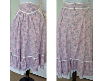 vintage 70s Gunne Sax hippie skirt with pockets