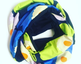 Infnity Jersey Loop Scarf Made with Marimekko Unikko Fabric Jersey