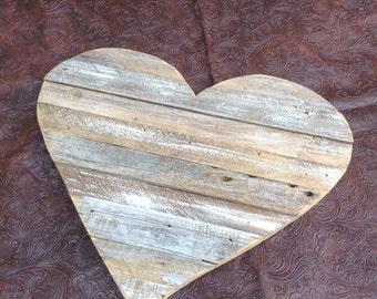 Ready to Ship Rustic Shabby Wedding Aged Wood Pieces Heart Decor Reception Bridal Shower Valentine