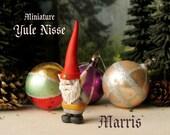 Marris - Miniature Yule Nisse - Household Gnome or Elf Figurine - Helpful Spirit - Tomte - Nisse - Tomtenisse - Polymer Clay Sculpture