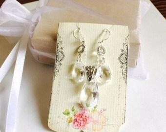 Bridesmaid Jewelry Set in Clear Crystal Swarovski