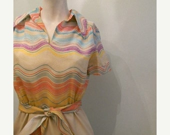 ON SALE vintage. 60s MOD Dress // Fred Rothschild of California // S