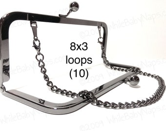 10% OFF 10 Duskcoat Gunmetal (TM) 8x3 with LOOPS clutch purse frames