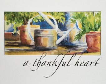 Watering Cans - a thankful heart