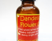 SALE -  Dandelion Flower Herbal Oil - Locally Wildcrafted - Natural - Organic - Massage Oil - Relaxing Skin Care - 1 oz