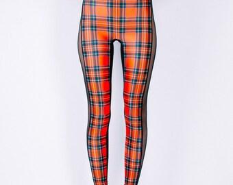 CELINE Leggings in STEWART ROYAL Tartan Digital Print