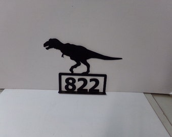 T-Rex Metal Dinosaur Mailbox Topper Art Silhouette