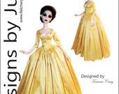 PDF Outlander Claire Dress Pattern for 18.25 Evangeling Ghastly Dolls Tonner