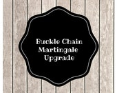 Buckle Chain Martingale Collar - You Pick the Fabric
