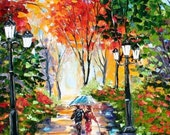 Print by Karen Tarlton - Walking the Dog - image made from past oil painting