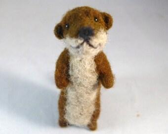 Needle Felted Animal, Felted Otter, Needle Felted Otter, Felt Animals, Felted Animals, Wool Felted Otter, Needle Felt Otter, Otter Art