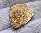 Coin Guitar Pick - Premium Quality - Handmade with a High Grade Vintage 1964 Mexican 20 Centavos Bronze Coin - Artisan Guitar Pick
