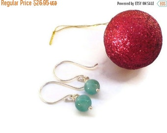ON SALE Larimar Jewelry Larimar dangle earrings round beads FAll fashion jewelry gifts for her turquoise jewelry