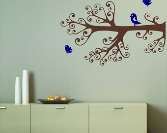 Ornamental Tree Wall Decal Removable Tree Wall Sticker