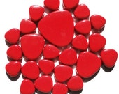 Cherry Red Turkish Crystal Glass Pebbles/Ovals Mosaic Tiles//Mosaic Supplies//Crafts//Mosaic