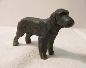 Antique / Vintage Pot Metal Spaniel Dog Figurine -