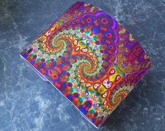 Psychedelic polymer clay cuff