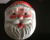 Vintage ive been to famous barr santa face gift tag souvenior red white chirstmas decorations ornament paper