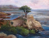 Pebble Beach giclee print of original pastel painting by Amanda Sapp