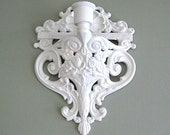 White Candle Holder Wall Sconce Wall Decor Candle Sconce Wall Candle Holder Wall Candle Sconce Wall Candleholder Wall Hanging Shabby Chic