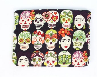 Retro Inspired Frida Day of the Dead Ipad / Tablet Sleeve