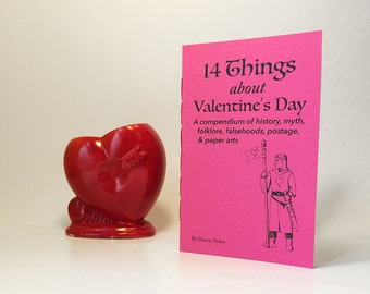 Valentines Day chapbook. A Valentine gift for the history buff, with folklore, myth, and DIY valentines. Valentine's day gift for geeks.
