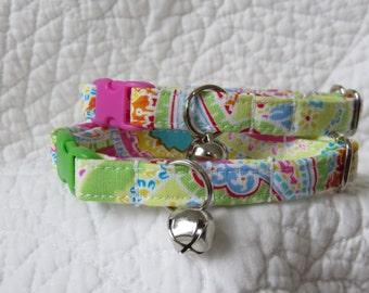 Cat Collar  Cat  Breakaway Collar Custom Made Paisley