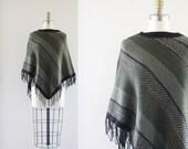 S A L E sweater knit fringe poncho