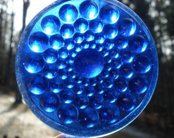 Vintage design Hobnail stained glass jewel 57mm
