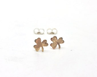 Lucky Shamrock Four Leaf Clover Sterling Silver Post Earrings LanaBetty