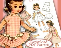 "SALE PDF Betsy McCall Tonner Patsyette 7-8"" ALL In Pink 2300 vintage e-pattern Ann Estelle & Riley too"