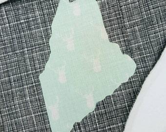 Custom State Baby Blanket - Personalized Baby Blanket - Nursery Bedding - Baby Shower gift - Maine Gift - Baby Boy - Baby Girl -Baby Blanket