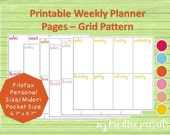 Weekly Planner Pages Grid...