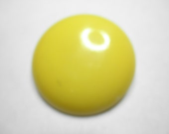 HUGE YELLOW Amino Resin Button 1940's - measures 1.5 inches diameter.
